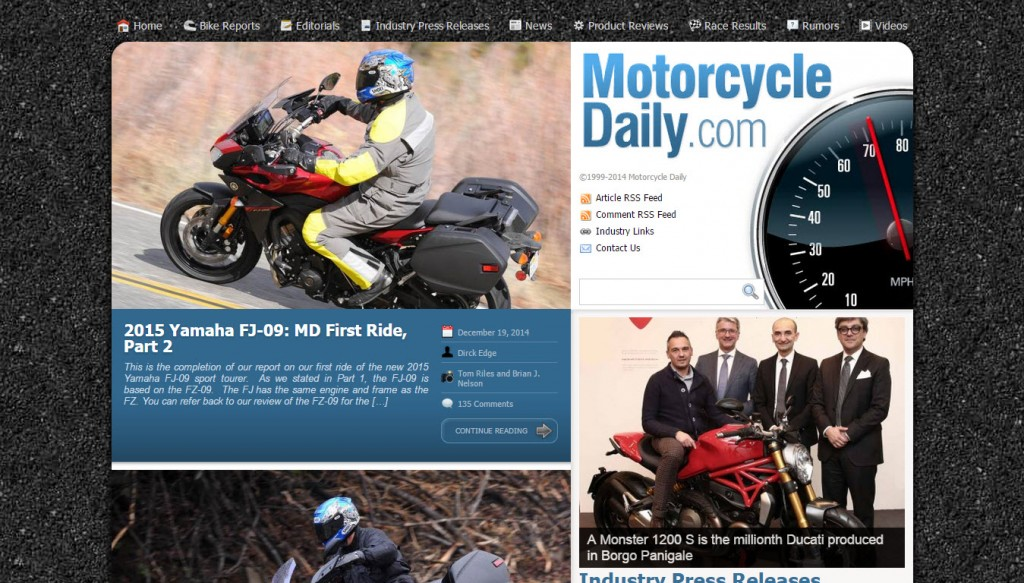 Motorcycle Daily runs on Company Juice