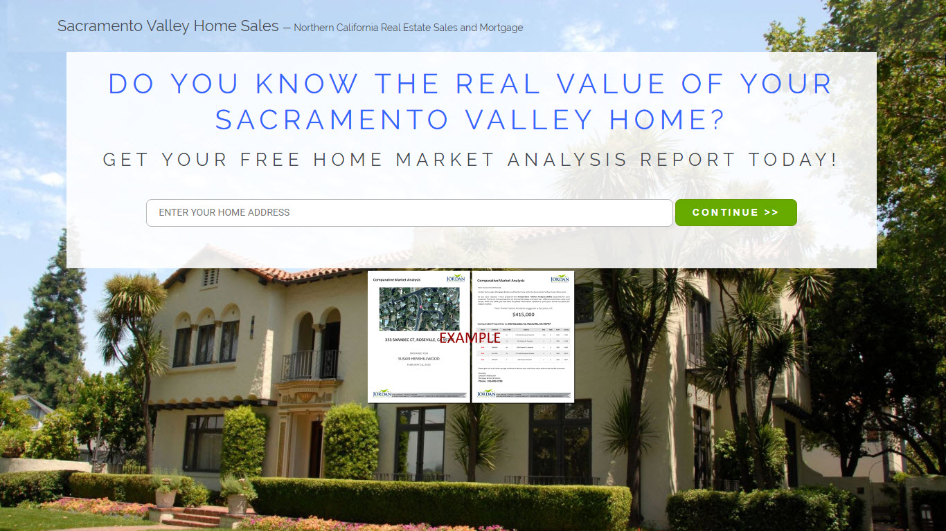 Sacramento Valley Homes Sales - Real Estate Lead Generator