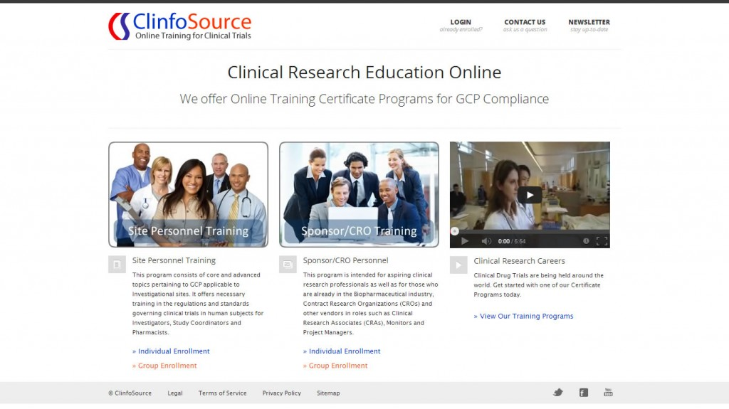 ClinfoSource, Online Training for Clinical Trials