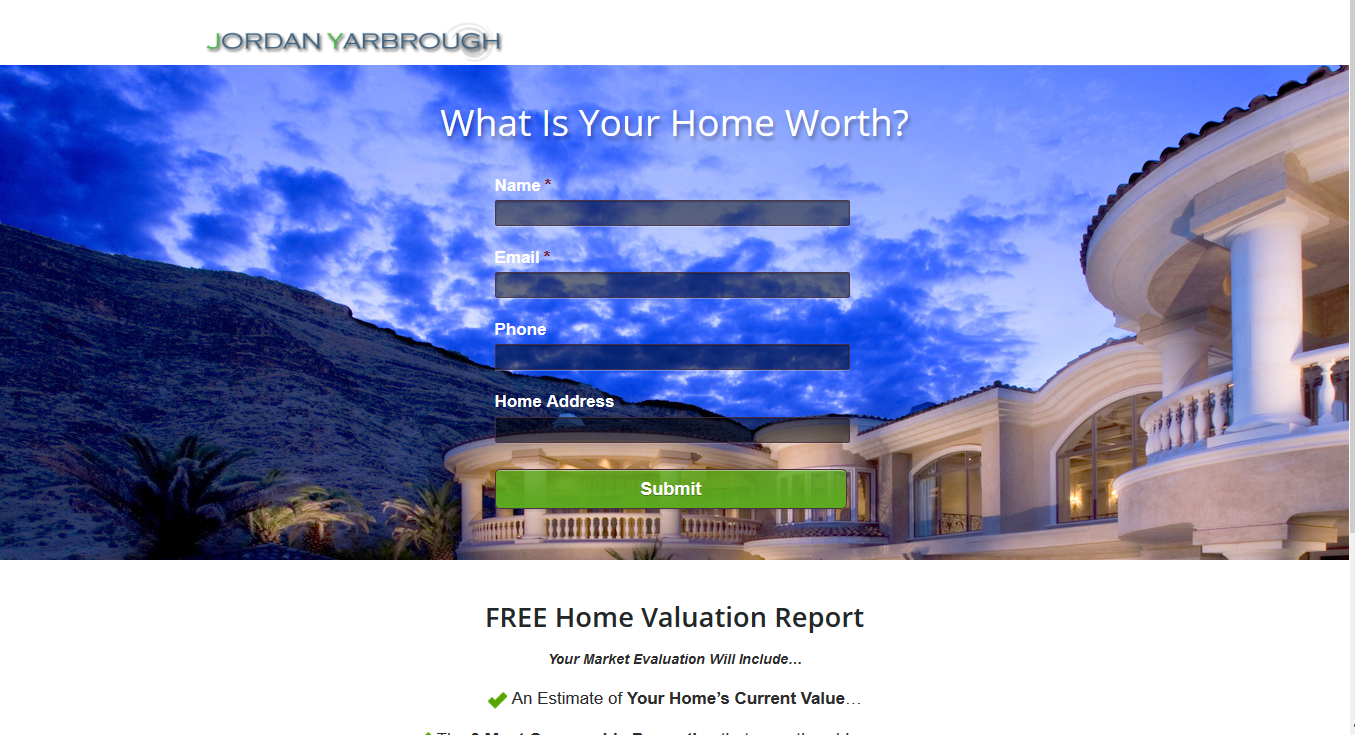 Landing Page for Jordan Yarbrough, Mortgage Broker